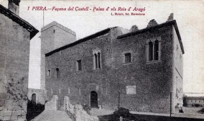Palau dels reis d'Aragó just des- prés de la restauració de 1916