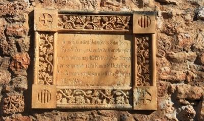 Placa commemorativa de la restauració neomedieval de 1916