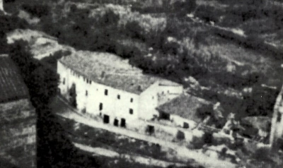 Vista de la barriada des del campanar de l'església de Santa Maria (vers 1930)