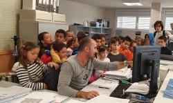 Visita Ajuntament alumnes Les Flandes