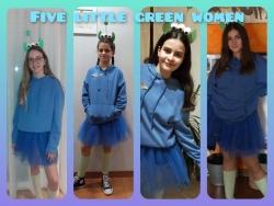 Five little green women