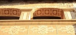 Ferdinandus va utilitzar geometries de traç més recte per a l'esgrafiat de les arcades (2015)