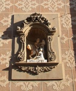 Imatge de sant Martí tallant-se la capa per compartir-la amb el pobre (2015)