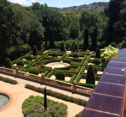 Vista actual dels jardins de la casa (2015)