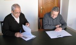 Signatura cessió dipòsit Ca n'Aguilera