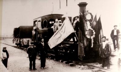 Arribada de la primera locomotora en fase de proves durant el no- vembre de 1892